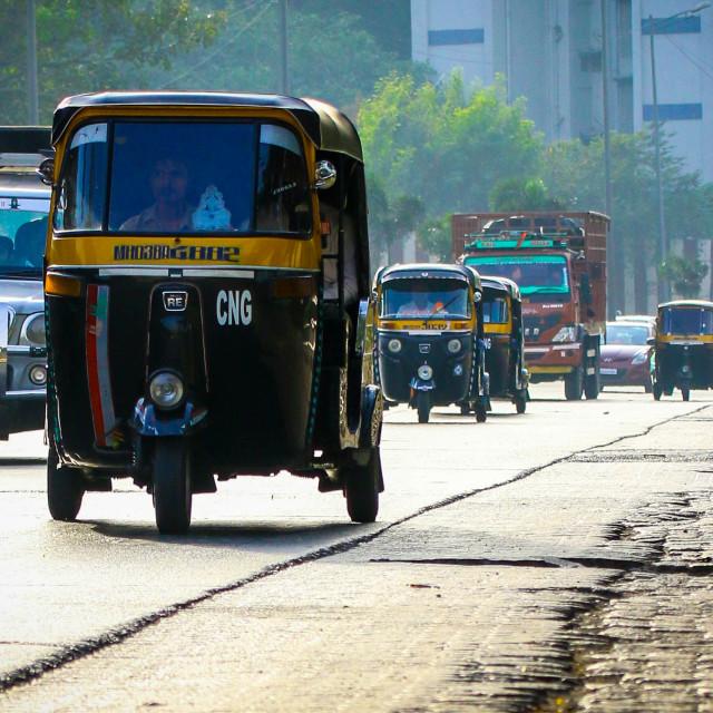 """Mumbai Rickshaw"" stock image"