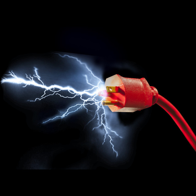 """Electric plug"" stock image"
