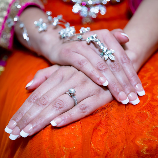 """Brides hands"" stock image"