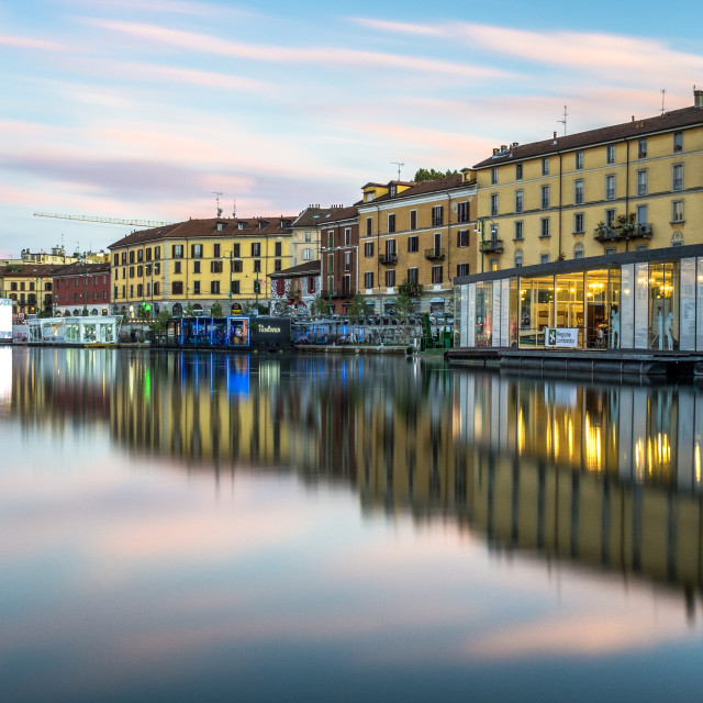 """Sunset - Navigli"" stock image"