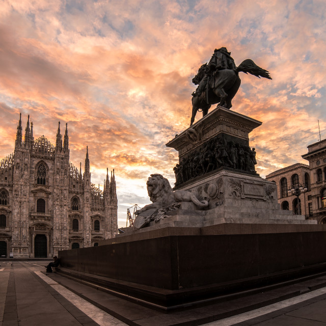 """Sunrise - Milano"" stock image"