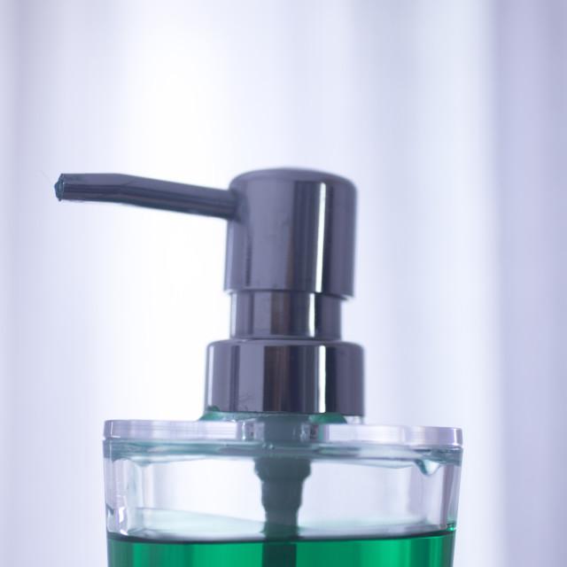 """Hand washing liquid soap hygiene dispenser"" stock image"