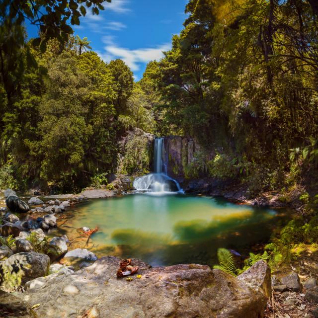 """Waiau Falls"" stock image"