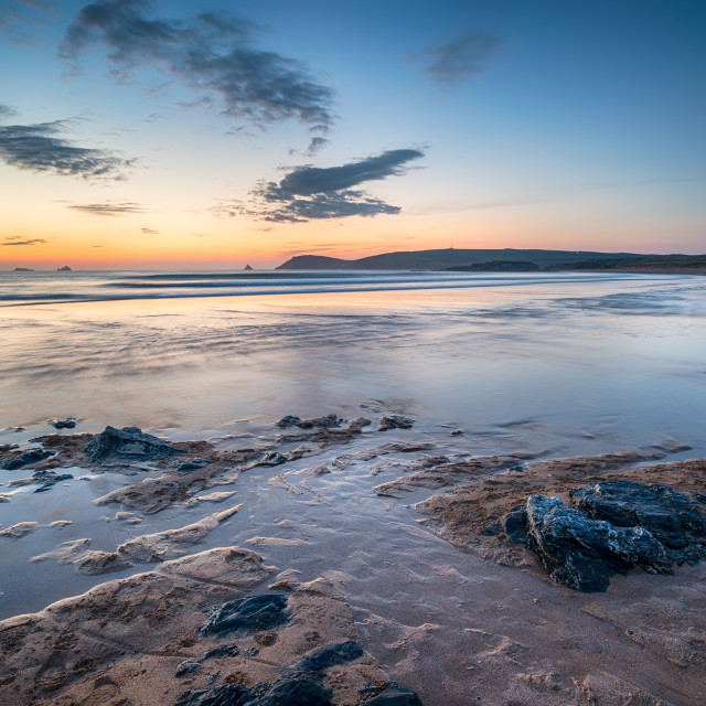 """Sunset at Constantine Bay"" stock image"
