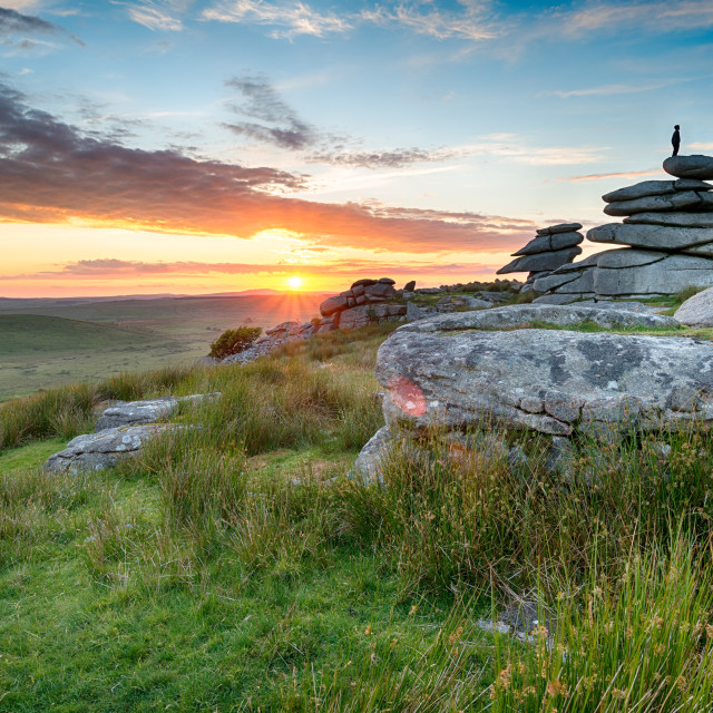 """Sunset on Bodmin Moor"" stock image"
