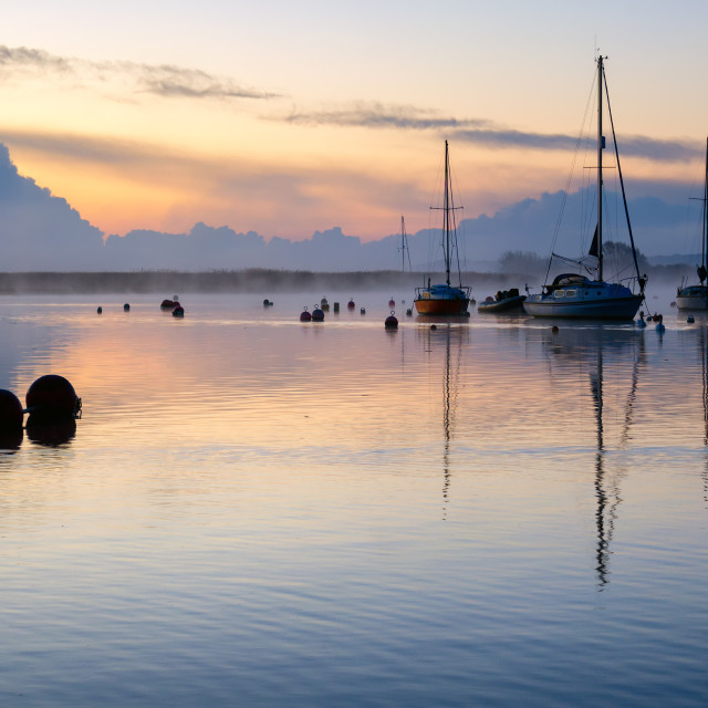 """Sunrise at Christchurch in Dorset"" stock image"