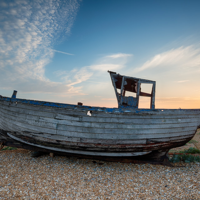 """Fishing Boat on the Beach"" stock image"