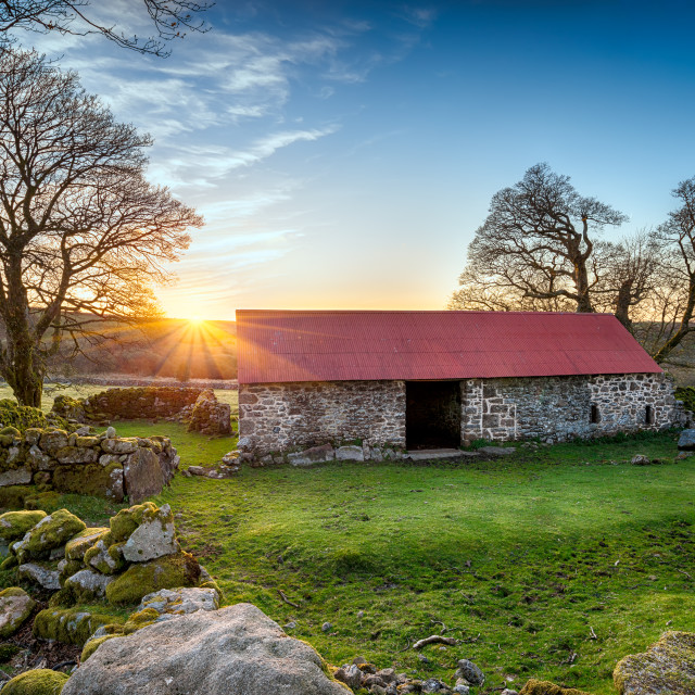 """Old House on Dartmoor"" stock image"