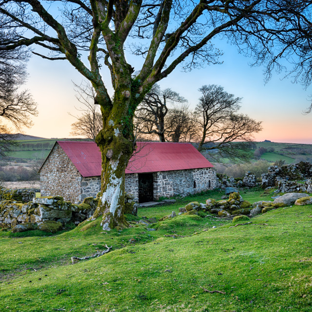 """Old Stone Barn"" stock image"