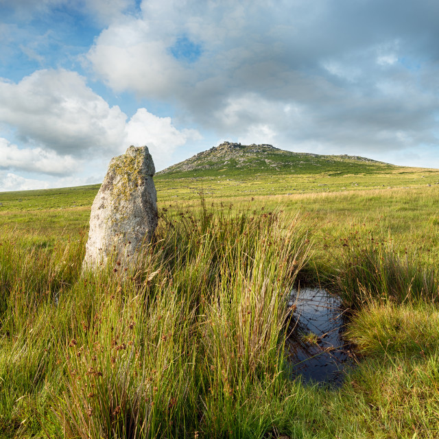 """Roughtor on Bodmin Moor"" stock image"