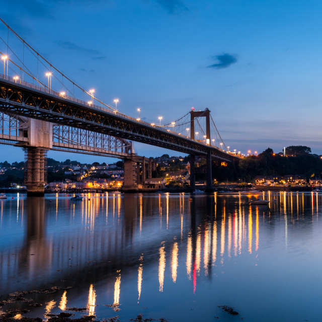 """The River Tamar in Plymouth"" stock image"