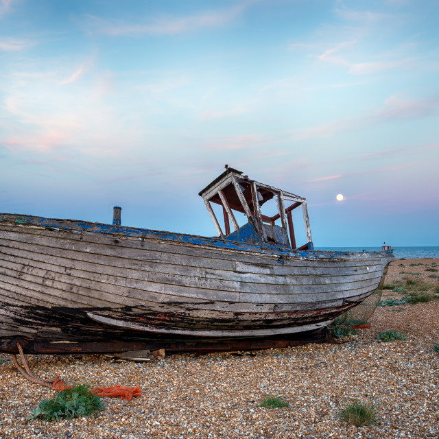 """""""Shipwreck by Moonlight"""" stock image"""