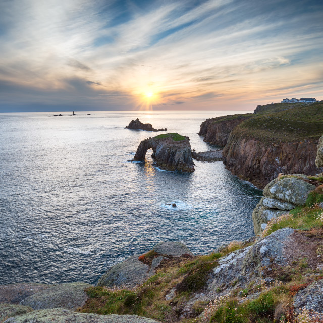 """Lands End in Cornwall"" stock image"