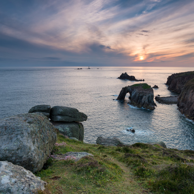 """Land's End in Cornwall"" stock image"