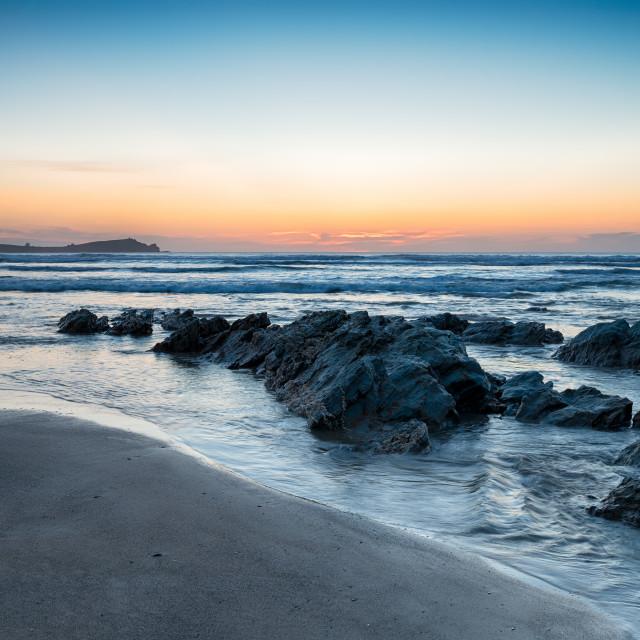 """""""Lusty Glaze Beach"""" stock image"""