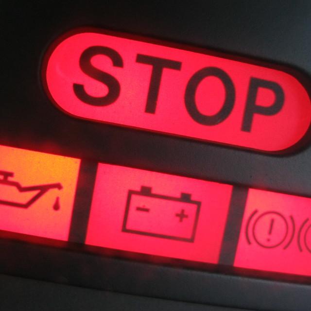 """""""Warning Stop!"""" stock image"""