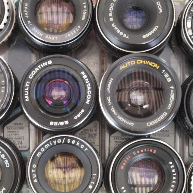 """""""Vintage Optics and Nifty Fifties"""" stock image"""