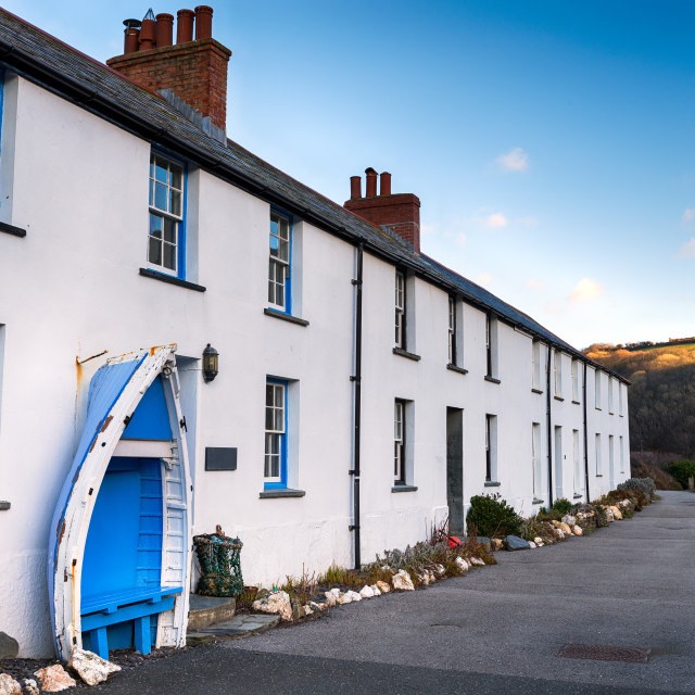"""""""Terraced Cottages"""" stock image"""