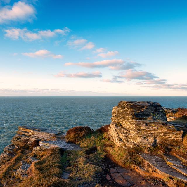 """Cornish Cliffs"" stock image"