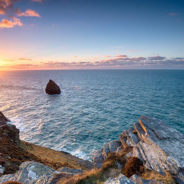"""""""The North Cornwall Coastline"""" stock image"""