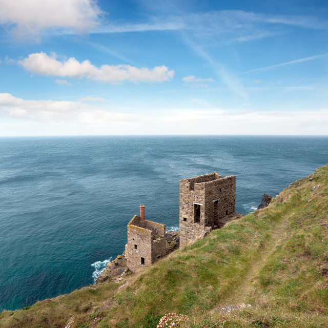 """""""Engine Houses at Botallack"""" stock image"""