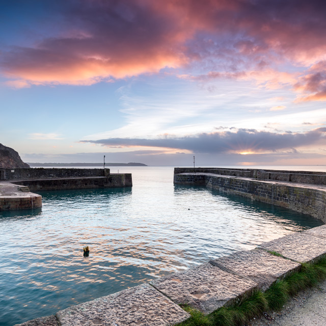 """""""Charlestown Harbour in Cornwall"""" stock image"""