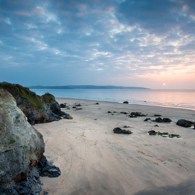 """Cornwall Coast at Hayle"" stock image"