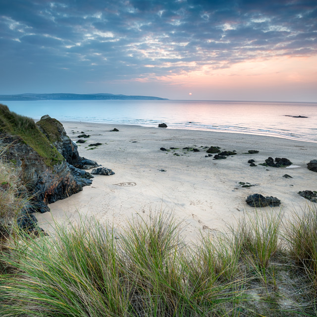 """""""The Beach At Hayle in Cornwall"""" stock image"""