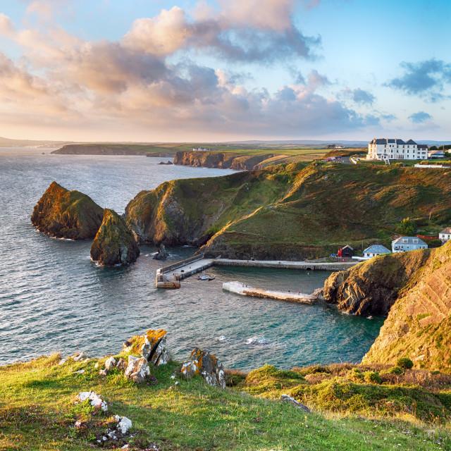 """Mullion Cove in Cornwall"" stock image"