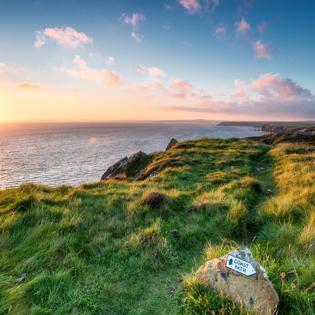 """""""The South West Coast Path"""" stock image"""