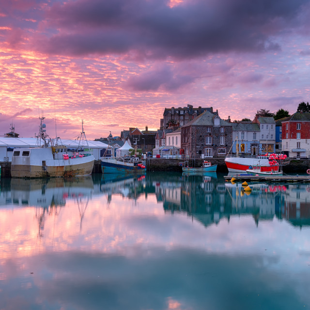 """""""Sunrise at Padstow"""" stock image"""