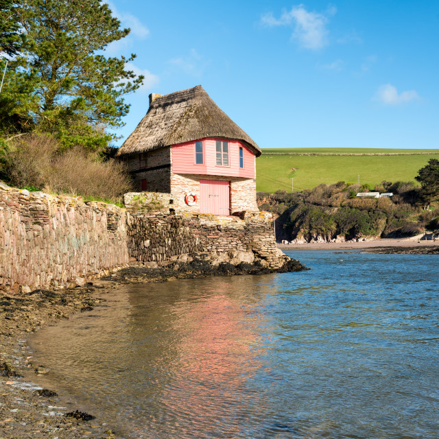 """Bantham in Devon"" stock image"