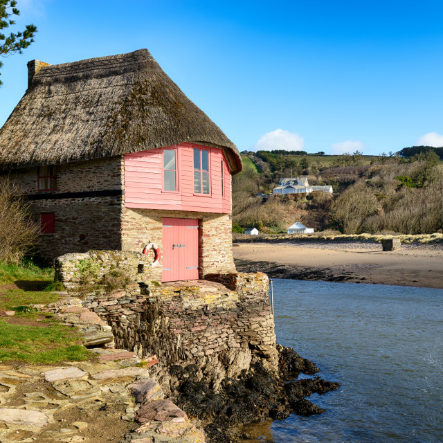 """Thatched Cottage"" stock image"
