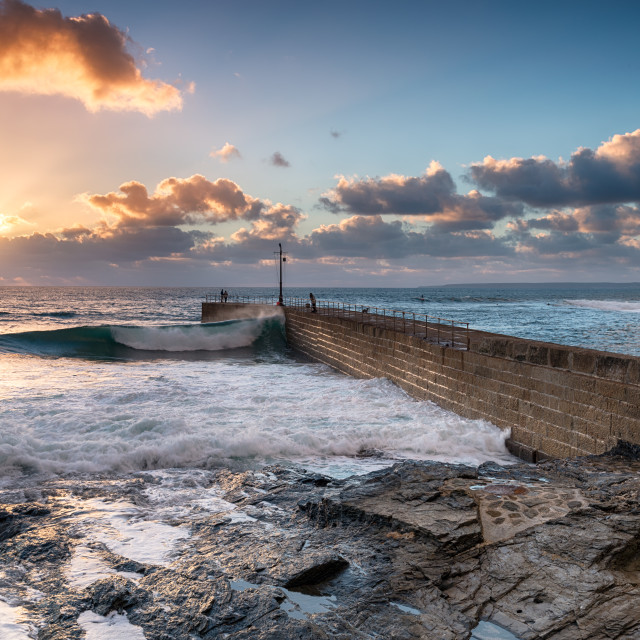 """Porthleven in Cornwall"" stock image"