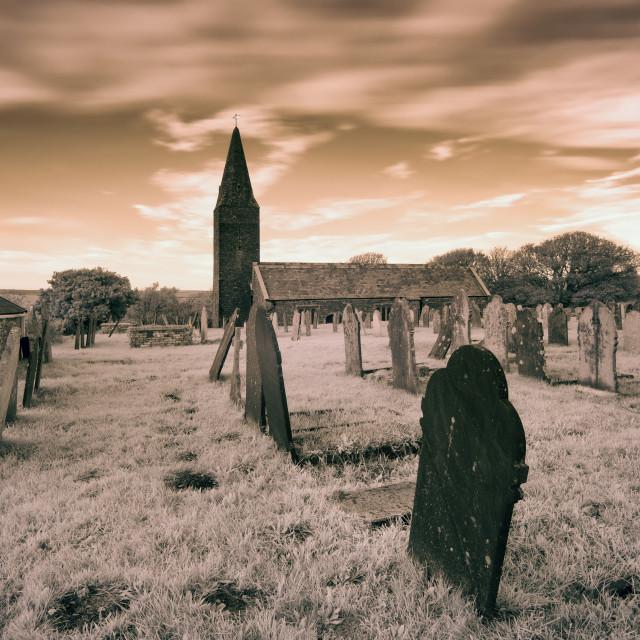 """Infrared Churchyard"" stock image"