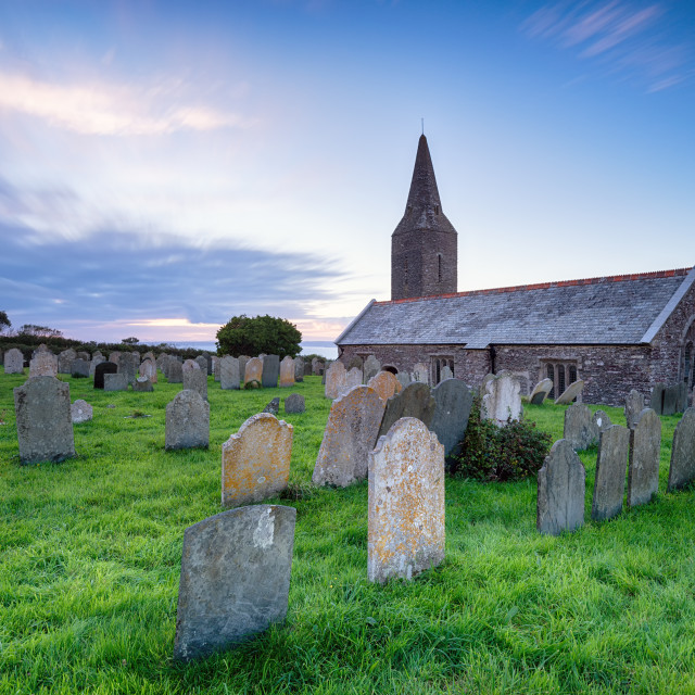 """""""Church at Rame in Cornwall"""" stock image"""