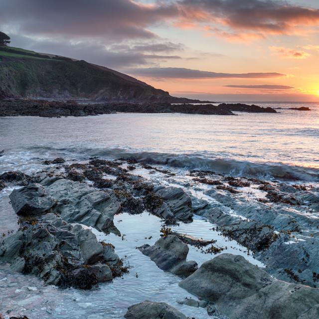 """Talland Bay in Cornwall"" stock image"