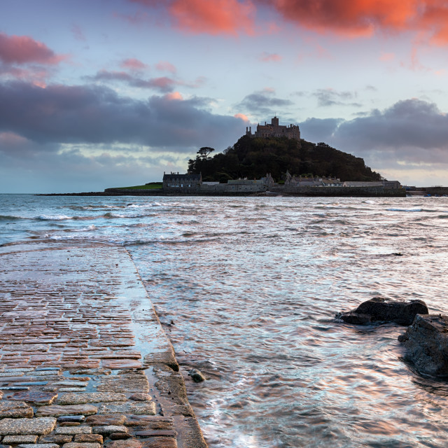 """""""St Michael's Mount in Cornwall"""" stock image"""