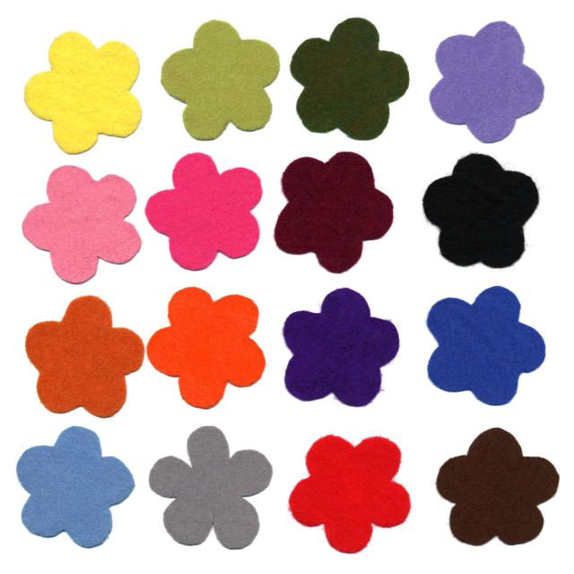 """Flower color felt samples"" stock image"