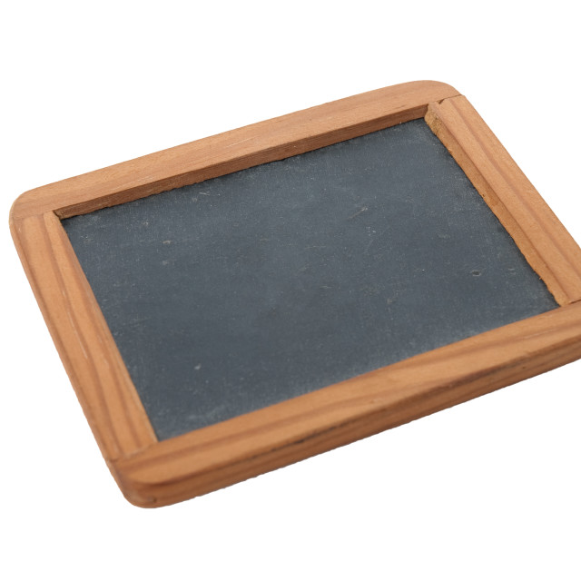 """""""Empty Chalk Board on a easel"""" stock image"""