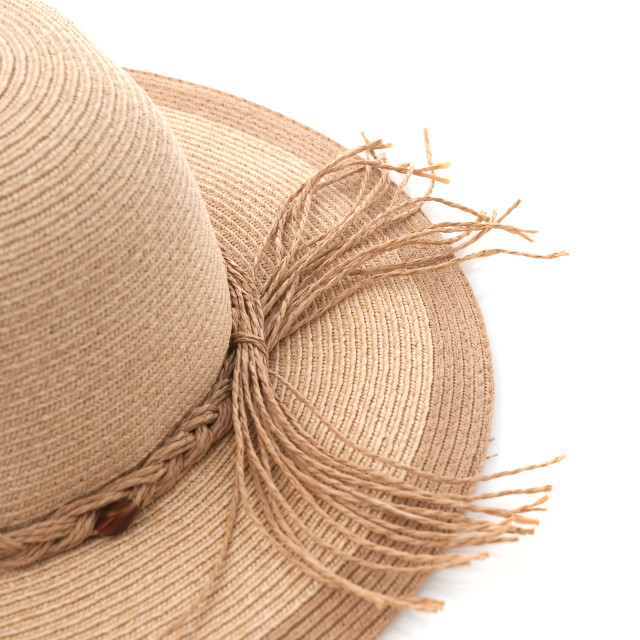 """""""Straw hat with ribbon"""" stock image"""