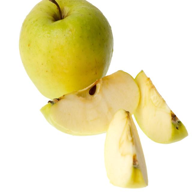 """Chopped apple"" stock image"