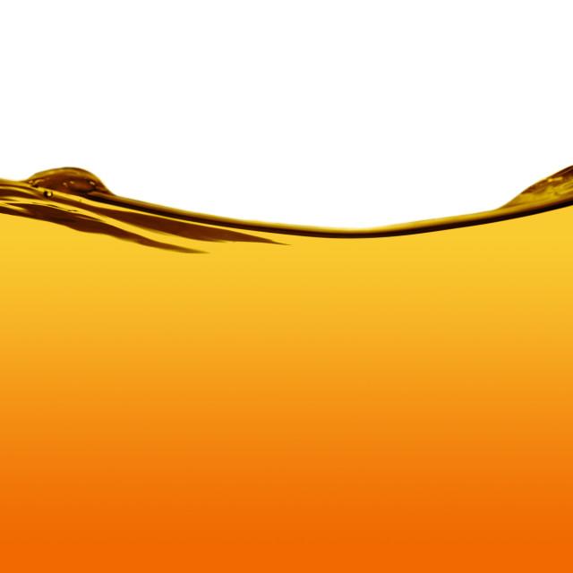 """Orange water line"" stock image"
