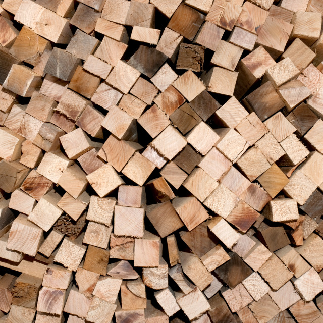 """Chopped wood for the fireplace"" stock image"