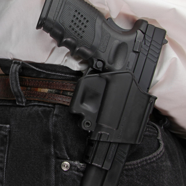 """Concealed carry"" stock image"