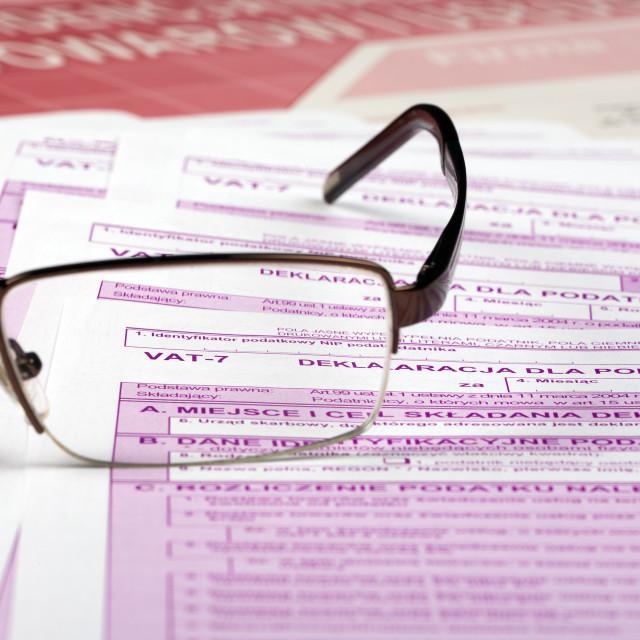 """Vat tax - documents"" stock image"