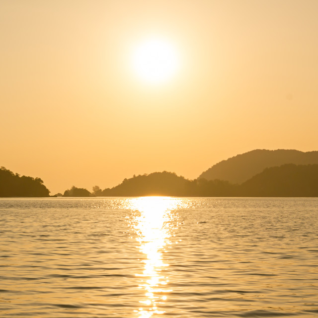 """Langkawi Sunset"" stock image"