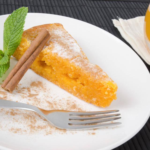 """Slice of traditional portuguese cake"" stock image"