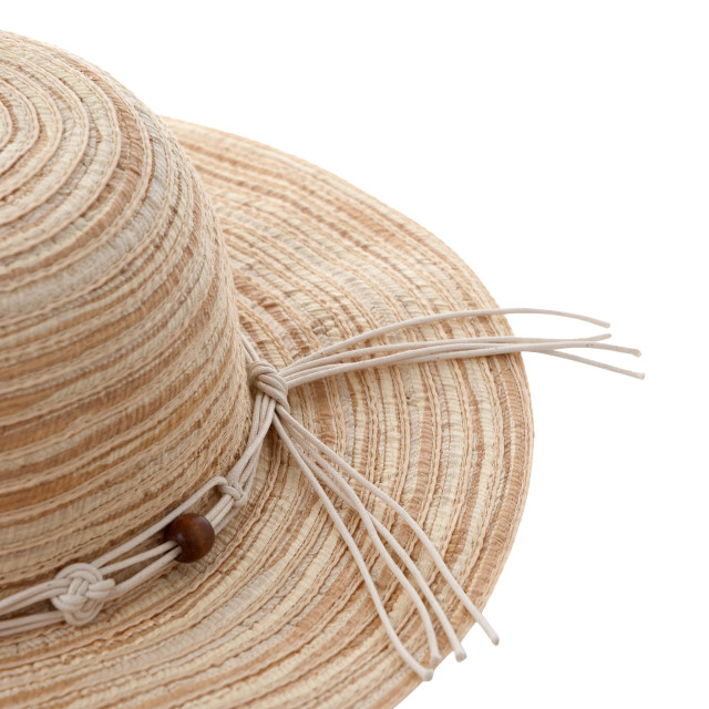 """Straw hat with ribbon"" stock image"