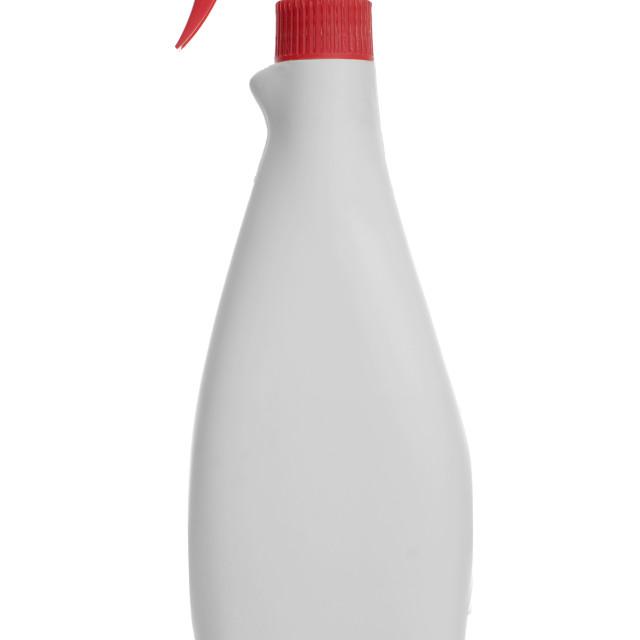 """""""White spray bottle"""" stock image"""